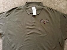 Harley Davidson Driftwood Color Polo golf Shirt NWT Men's Large