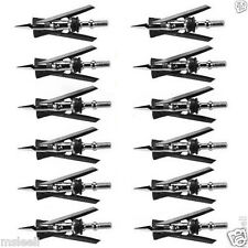 12Pcs Official Rear Deploying SlipCam Broadheads 2 Blades 100Gr X-Treme Tips