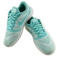 Nike Free RN Girls Kids Size 5Y Blue Teal Lace Up Running Shoes 833993-100