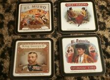 CIGAR LABEL Bodleian Coasters OXFORD El Favorito De Cuba Muro Made England Set 4