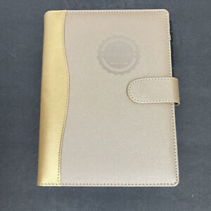 Privé Planner Tan Faux Leather 4-in-1 Daily Organizer and Notebook