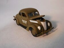 """JL 1937 FORD COUPE WORLD WAR II STAFF CAR """"HICKAM FIELD"""" RUBBER TIRES"""