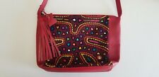 Boots 'N Bags Zipper Top Closure Leather Crossbody Bag Red