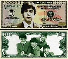 Paul McCartney of Beatles New-Style Million Dollar Bill Funny Money Novelty Note