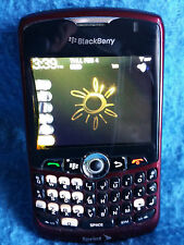 Burgandy BlackBerry Curve 8330 Sprint Smart Phone Case Charger Bluetooth