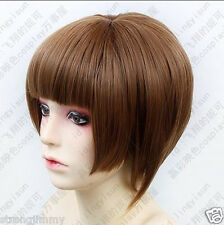 HOT~PSYCHO-PASS Tsunemori Akane Short Brown Cosplay Fashion Wig Free shipping