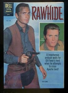 FOUR COLOR # 1160 NEAR MINT 9.2  RAWHIDE 1ST CLINT EASTWOOD PHOTO COVER NOT CGC