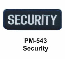 """3"""" SECURITY Embroidered Military Patch"""