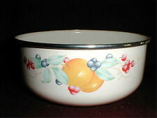 "Corelle ABUNDANCE Fruit Large 7.25"" Enamel Metal Mixing Bowl/s"