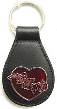14040 HARLEY DAVIDSON LEATHER & ENAMEL KEYRING KEY RING RED LOVE HEART LOGO