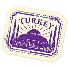 "Turkey travel car bumper window suitcase sticker 5"" x 4"""
