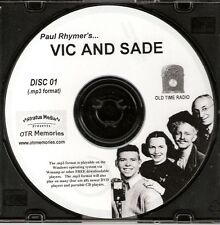 VIC AND SADE - 347 Shows Old Time Radio In MP3 Format OTR On 5 CDs