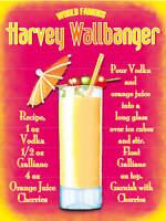 Famosos Harvey Wallbanger Bar Pub & Restaurante Pequeño Metal Acero Signo