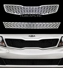 2011-2013 KIA Optima CHROME Snap On Grille Front Grill Covers Inserts Overlay