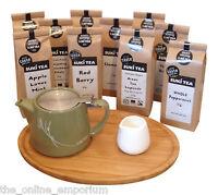 OLIVE GREEN SUKI / FORLIFE TEAPOT & INFUSER, TRAY & CREAMER - OPTION TO ADD TEA
