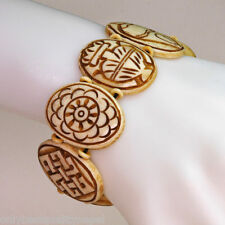 bracelet Nepal Good Luck Symbol Buddhism Handmade Unisex Nature Brown 137B