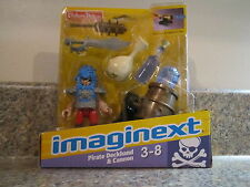 Fisher Price Imaginext Castle New Pirate ship Skeleton Pirate Deckhand cannon