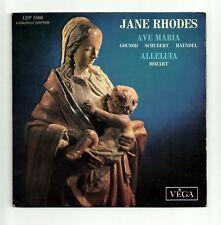 RHODES Jane Vinyl 45T EP AVE MARIA Gounod Schubert Haendel ALLELUIA Mozart VEGA