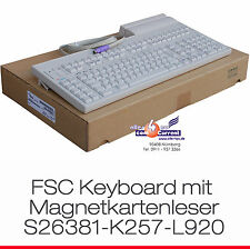 PS/2 Fujitsu-Siemens FSC Keyboard s26381-k257-l920 KBPC Em Magnetic Card Reader