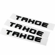 3x OEM TAHOE Emblems Gloss Black Badge Nameplate 3D ABS for GM Chevrolet YU