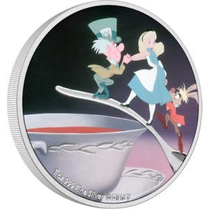 2021 Niue $2 Disney Alice in Wonderland Mad Hatter 1 oz Silver Proof Coin