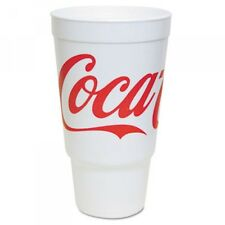Dart Coca-Cola Foam Cups, Foam, Red/White, 32 oz  (DCC 32AJ20C)