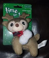 New listing Time For Joy Reindeer Plushie Cat Toy W/Catnip