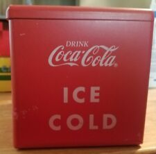Vintage Coca-Cola cooler plastic music box~working