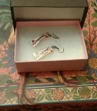 ATLANTA BRAVES EARRINGS WITH JEWELRY BOX