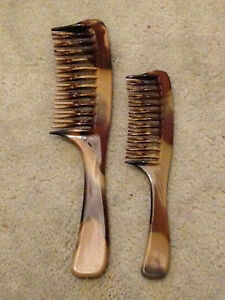 HAIR COMBS - LARGE and SMALL DOUBLE SIDED BRISTLES