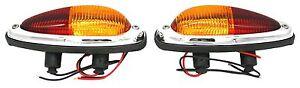 Tail Light Assembly Set, Euro Model ,Amber/Red,Set,Porsche 356A, 356B, 356C