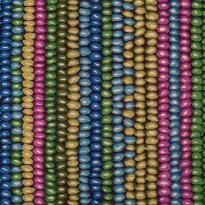 1&1/3yd Kaffe Fassett OOP Bead Stripe GP50 Moss Green & Blue Fabric