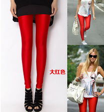 NEW Stretch Skinny High Waist Women's Lycra Trousers Leggings Pants 14 Colors