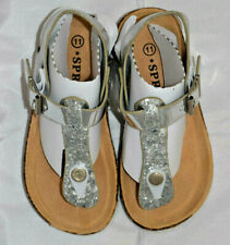 "NIB ""SPROX"" Girl's Silver Sandals Kids 11"