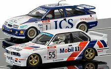 Scalextric 3693 A Ford Sierra RS500/BMW E30 SLOT CARS avec lumières, Magna, RMR