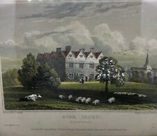 Hand Colored 1825 J.P. Neale Engraving By I. Barber Over Court Gloucesters 00004000 hire