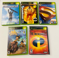 Original Xbox Games Lot of 5 Family Fun Variety Games Rated E For Everyone/Teen