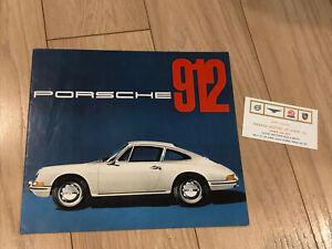 Vintage 1965 PORSCHE 912 Dealer Dealership Sales Brochure & Card +SUPER NICE+