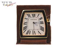 """CARTIER """" La dona """" pendulette horloge de table voyage réveil ALARME BUREAU"""