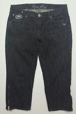 c1cfb70d93e Ecko Red Womens Jeans Size 5 Black Crop Capri Zipper Ankle Embellished  Stretch