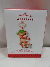 2013 Hallmark Keepsake Ornament My Third Christmas Age Series 2014 2015 16 17 18