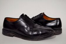 Allen Edmonds Hillcrest 10 3E EEE Black Leather Bicycle Vibram Dress Shoes