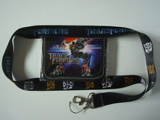 Lot New*Transformers* Kids Wallet + Lanyard/Cell Phone Strap Optimus Prime (S/A)