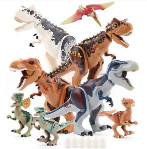 Dinos fit Jurassic World Lego Dinosaur Tyrannosaurus TRex Park Raptor Toy