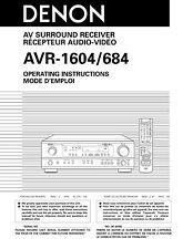 Denon AVR-1604 AV Surround Receiver Owners Manual