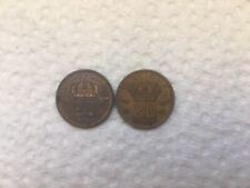 2 X 1957 BELGIUM CENTIMES