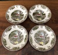 4 Johnson Brothers Friendly Village Fruit Bowls Dessert Sauce Berry Made England
