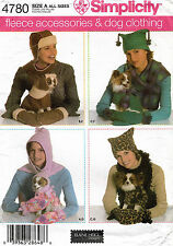 Simplicity Misses' Accessories & Dog Clothing Pattern 4780 Size XS,S,M  UNCUT