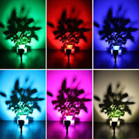 Waterproof 7 LED Solar Flood Lights Garden Yard Lawn Wall Spotlight Colorful