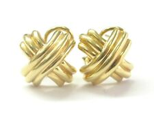 Tiffany & Co 18Kt Signature X Yellow Gold Earrings 15.5mm